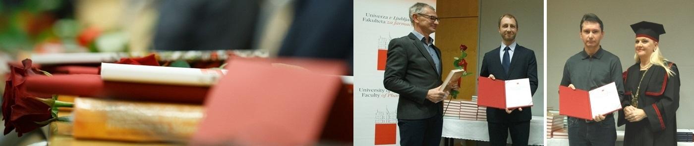 Doc. dr. Bojan Doljak in Rafael Hribar prejela priznanji UL FFA za izjemne rezultate pri delu