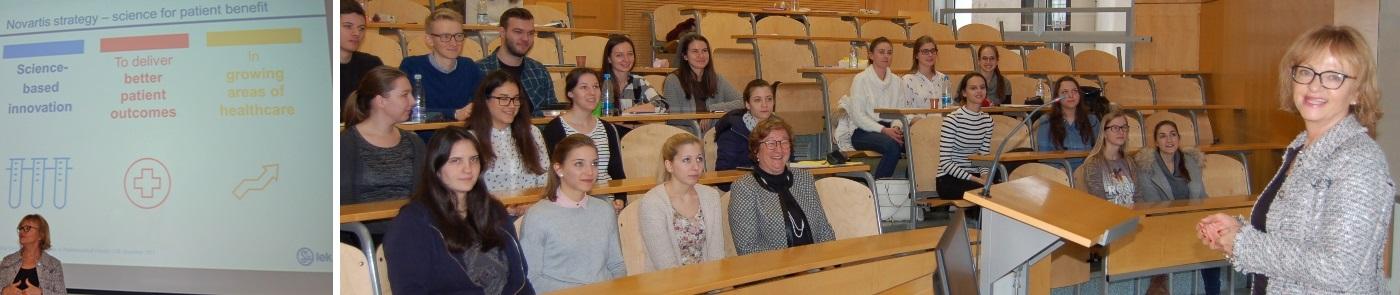 Dr. Darja Ferčej predavanje na Fakulteti za farmacijo 9.1.2018