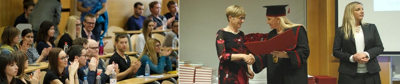 Jelka Dolinar, mag. farm. prejemnica priznanja UL FFA za uspešno sodelovanje s fakulteto