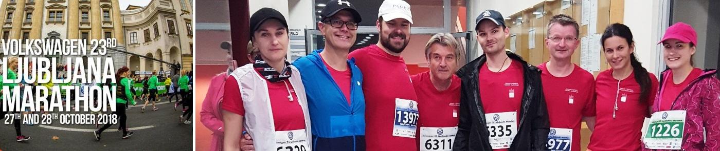 Udeleženci 23. ljubljanskega maratona - sodelavci Fakulete za farmacijo