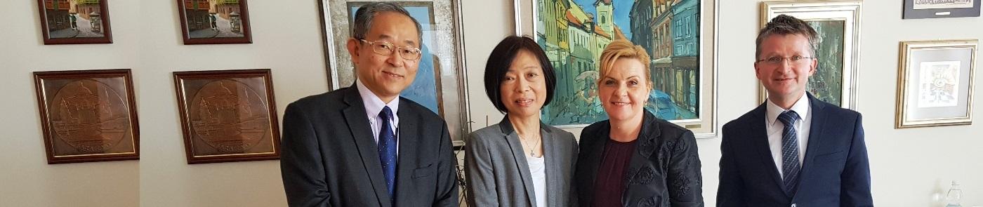 Veleposlanik Njegova ekscelenca gospod Masaharu Yoshida in gospa Yoshida mag. farm
