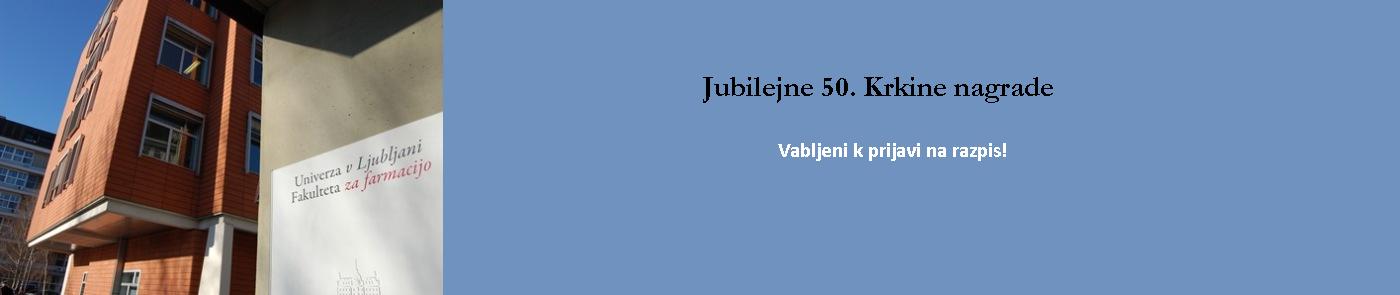 Razpis 50. Krkine nagrade