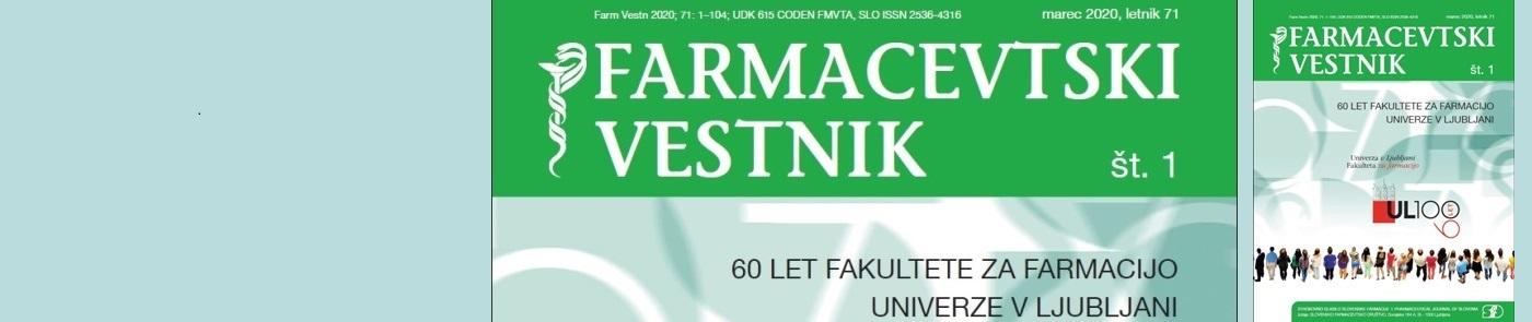 Prva številka Farmacevtskega vestnika v letu 2020 posvečena 60 letnici Fakultete za farmacijo Univerze v Ljubljani