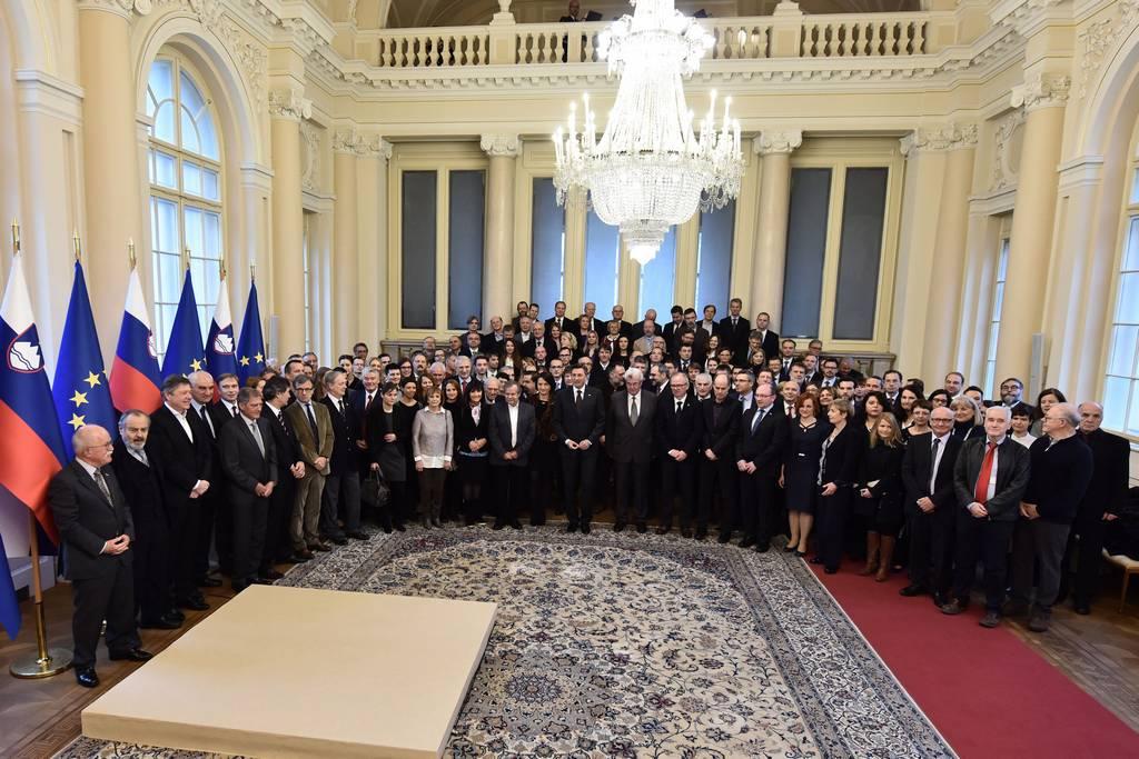 Sprejem pri predsedniku republike za slovenske znanstvenike in znanstvenice 11.1.2018