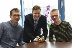 Člani podjetniške skupine: Stanislav Gobec, Matej Sova, Damijan Knez