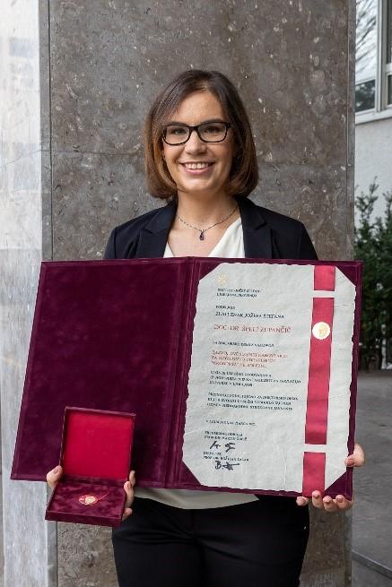 Špela Zupančič Zlati znak Jožefa Štefana 2021